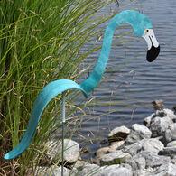 Aqua Flamingo Lawn Ornament