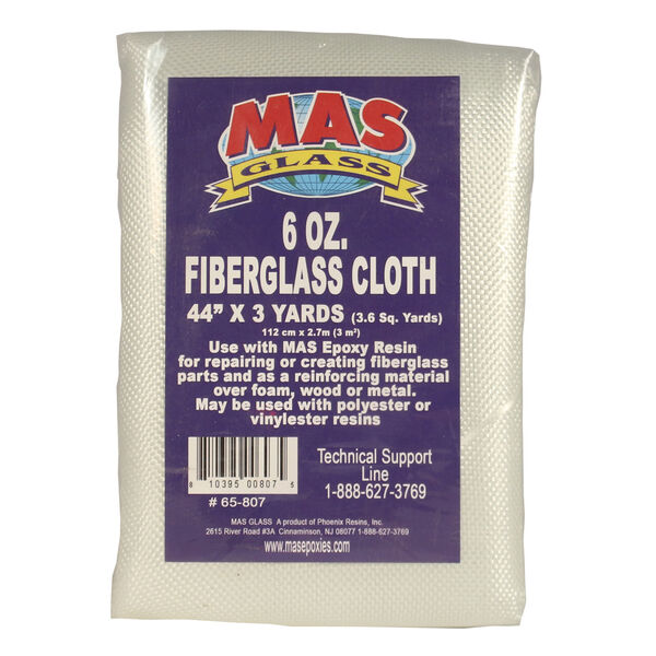 "MAS Epoxies 6-oz. Fiberglass Cloth, 44"" x 108"""