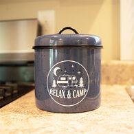 Relax & Camp Tin Cookie Jar