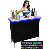 Party Bar Single Portable Bar with LED Glow Lights