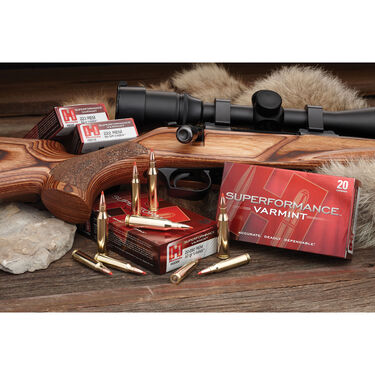Hornady Superformance Varmint V-Max Ammo, .222 Rem.