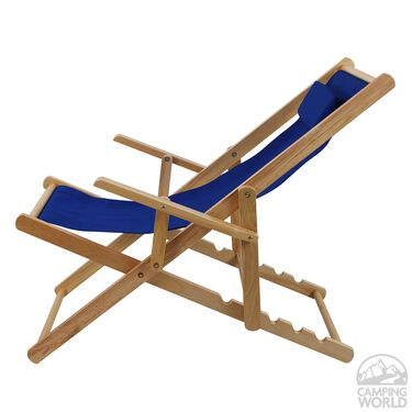 Canvas Patio Sling Chair, Blue
