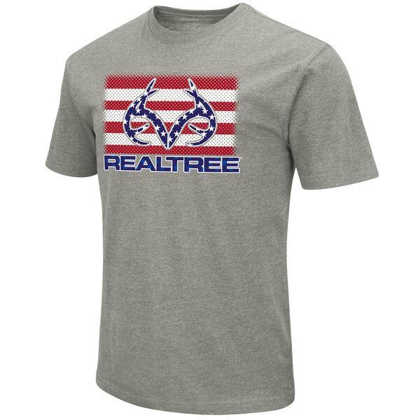 Realtree Men's Stars & Stripes Logo Short-Sleeve Tee