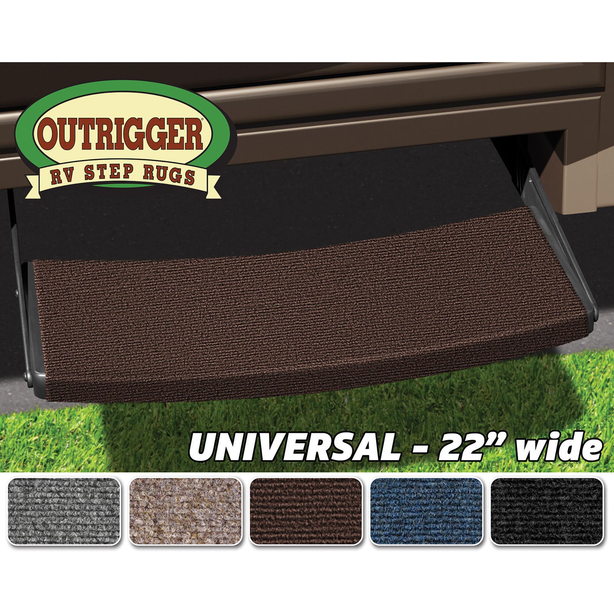 Prest-O-Fit 2-0311 Outrigger Walnut Brown 18 X 17 RV Step Rug