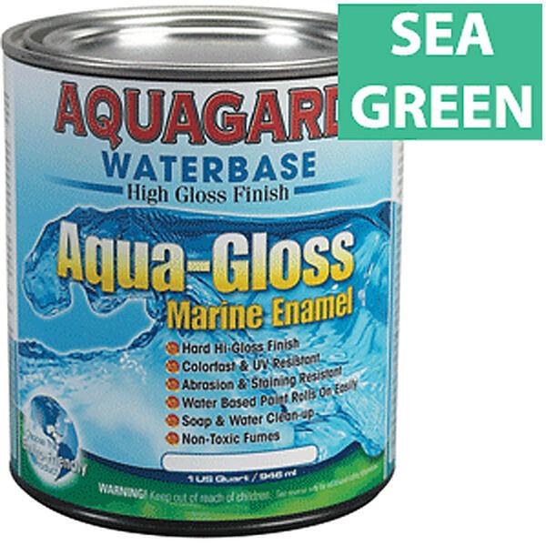 Aquagard Aqua-Gloss Waterbase Enamel, Quart, Sea Green