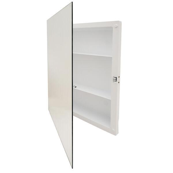 Jensen Roller Catch Medicine Cabinet, Frameless Polished Edge