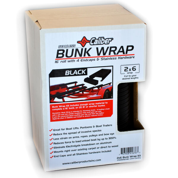 "Caliber Bunk Wrap Kit For 2"" x 6"" x 24' Bunks, Black"
