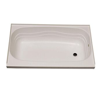 """Replacement ABS Bath Tub, 24"""" x 40"""", Parchment with Right Drain"""