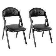 Kathy Ireland Furniture Church Folding Chairs, pair