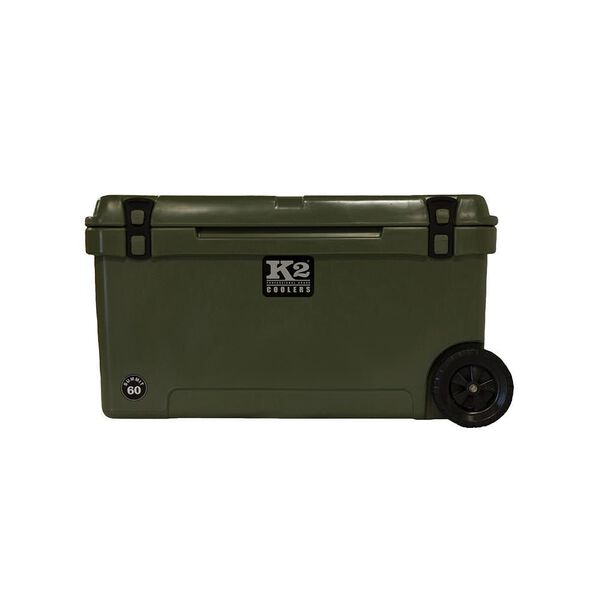 K2 Summit 60 Quart Wheeled Cooler, Duck Boat Green