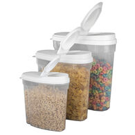 Home Basics 3-Piece Plastic Cereal Container Set