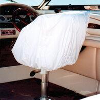 "Vinyl Helm/Bucket/Fi x ed Back Seat Cover White 24""H x 24""W x 22""D"