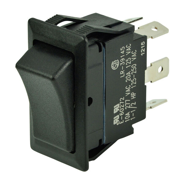 BEP DPDT Rocker Switch, (On)/Off/(On)