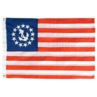 "12"" x 18"" Nylon Printed U.S. Yacht Ensign Flag"