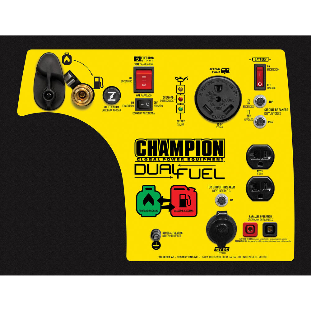 Champion 3500 Watt Rv Ready Dual Fuel Portable Inverter