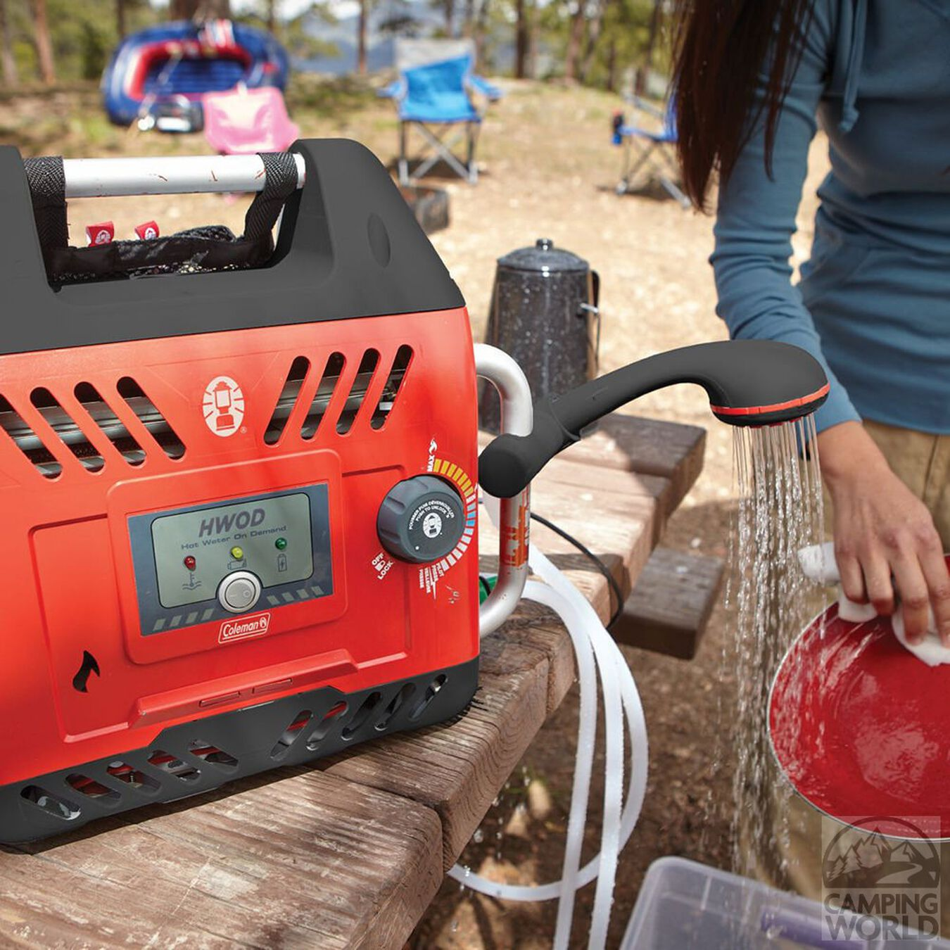 Coleman 2000026562 Portable Water Heater On Demand H2Oasis Outdoor Camping New