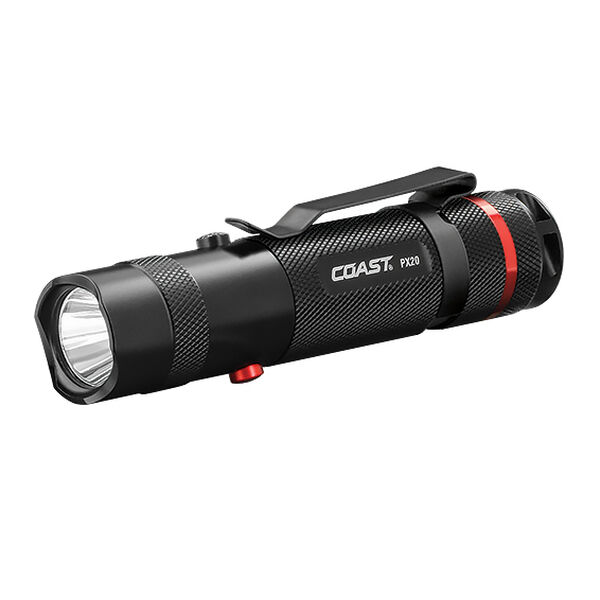 Coast PX20 Dual-Color Flashlight With Bullseye Spot Beam