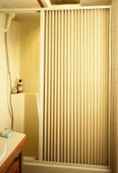 "Pleated Shower Door, Ivory - Up to 36"" W x 57"" L"