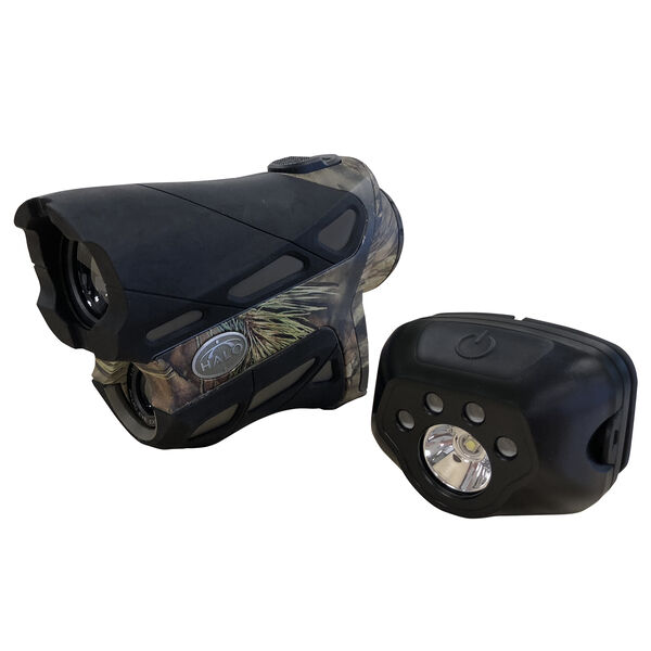 Halo XR Series XR800 Laser Rangefinder with Headlamp, Mossy Oak Breakup