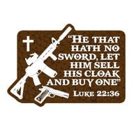 Patriot Patch Luke 22:36 Sticker