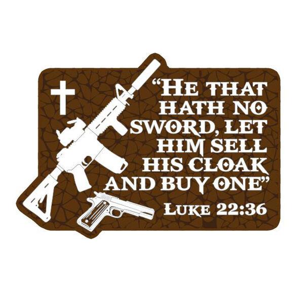 Patriot Patch Luke 22:36 Sticker