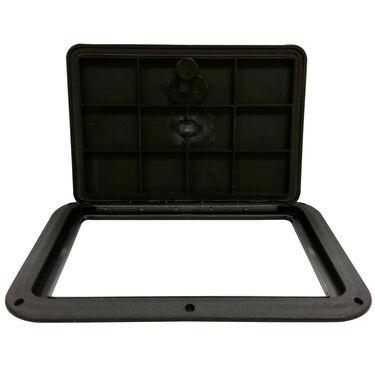 "DPI Marine DPF Black Flush Series Hatch Door, 9"" x 12"" O.D. frame"