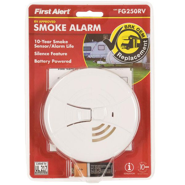 Replacement RV Smoke Alarm, White