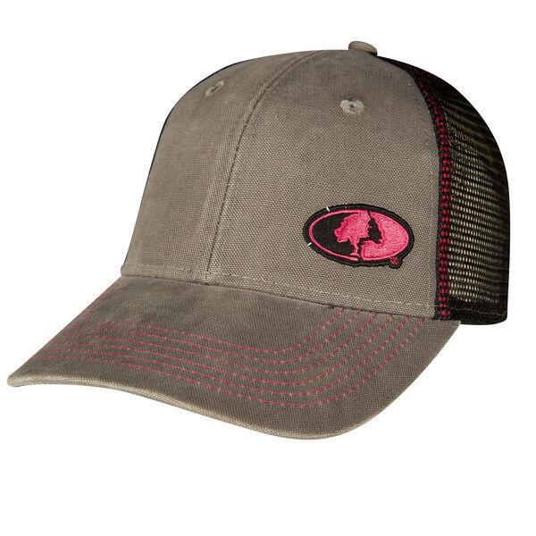 Mossy Oak Women's Pink Logo Mesh-Back Cap