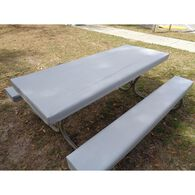 Table Gloves Fitted 6' Table Cover Set, Techno Gray