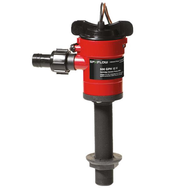 Johnson Pump Cartridge Aerator Pump, 500 GPH / Straight Fitting