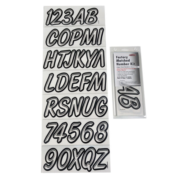 Hardline 400 Series Clear/Black Registration Kit, Airbrush Font