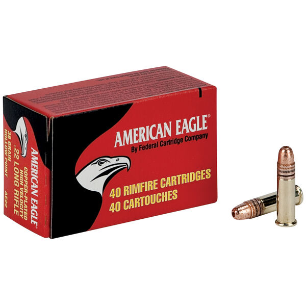 American Eagle Rimfire Ammunition, .22 LR, 38-gr., CPHP