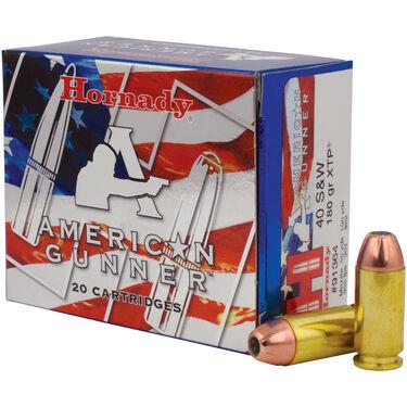 Hornady American Gunner Handgun Ammunition, .40 S&W, 180-gr., XTP