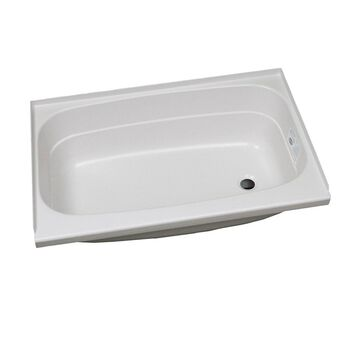 """Replacement ABS Bath Tub, 24"""" x 36"""", White with Right Drain"""