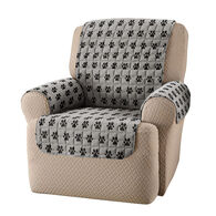 Sam Salem & Son Paw Print Chair Cover, Gray/Black