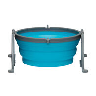 Loving Pets Bella Roma Blue Travel Bowl, Medium