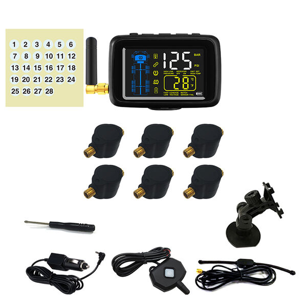 Flow Through Tire Pressure Monitoring System