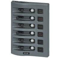 Blue Sea WeatherDeck Waterproof Circuit Breaker Panel - 6 Positions, gray