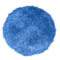 "Blue Blended Wool 9"" Double-Sided Quick Connect Polishing Pad"