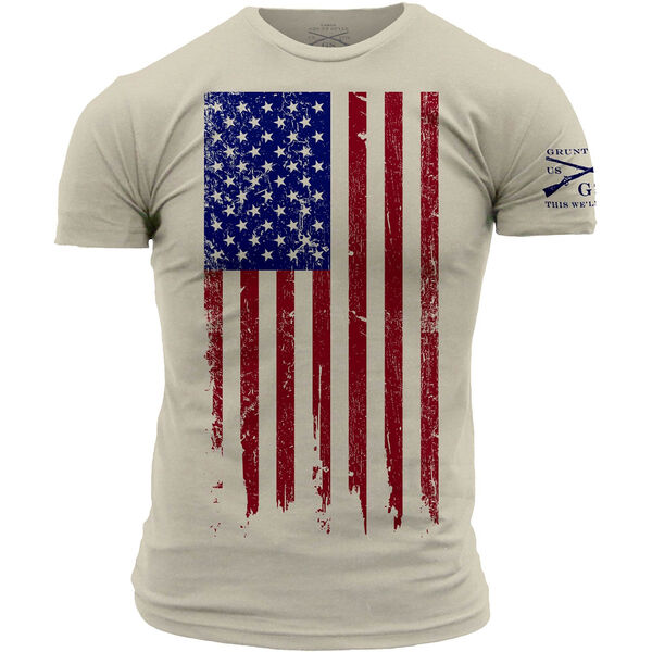 Grunt Style Men's Full Color Flag Short-Sleeve Tee