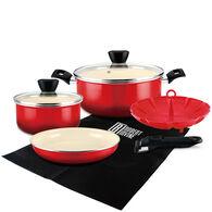 Robert Irvine 8-Piece Cookware Set, Red