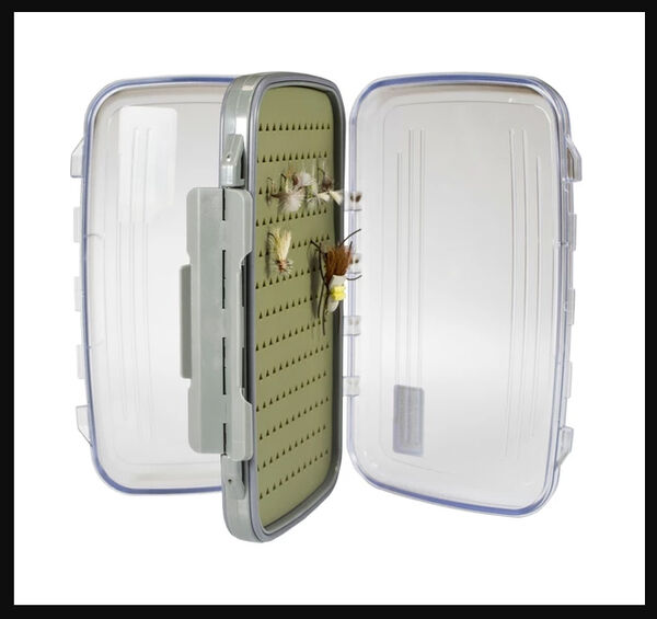 Kingfisher Large Fly Box with Silicon Liner