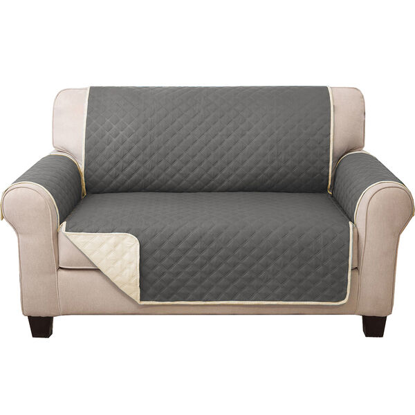 Quilted Reversible Furniture Cover Protector, Loveseat Cover