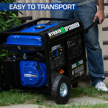 DuroMax Heavy Duty Dual Fuel 13,000-Watt Push Start Generator
