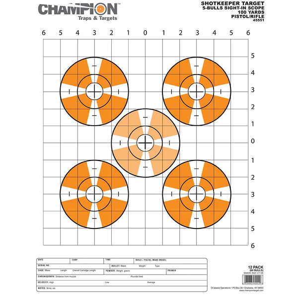 Champion Range and Target Shotkeeper Targets