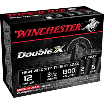 "Winchester Double X Turkey Loads, 12-ga., 3-1/"", 2-oz., #5"