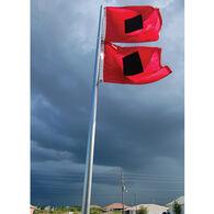 """Signal Flag Hurricane, 18"""" x 18"""""""