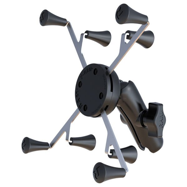 """RAM Mount Universal X-Grip; Cradle with 1"""" Ball & STANDARD Length Double Socket Arm f/7"""" Tablets"""
