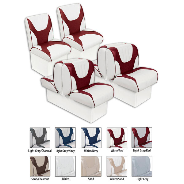 "Overton's Deluxe Boat Seat Package with 8"" Bases"