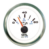 "Sierra White Premier Pro 2"" Oil Pressure Gauge"